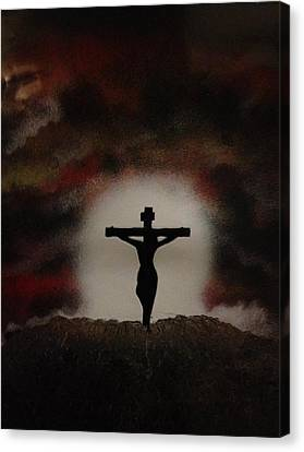Canvas Print featuring the painting The Cross by Michael Rucker