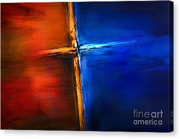 Canvas Print featuring the mixed media The Cross by Shevon Johnson