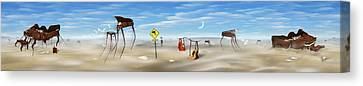 The Crossing Panorama Canvas Print by Mike McGlothlen