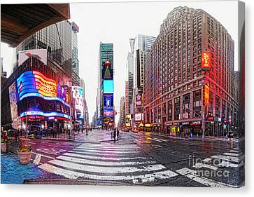 The Crossroads Of The World Canvas Print by Nishanth Gopinathan