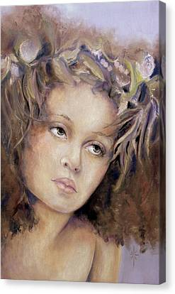 Canvas Print featuring the painting The Crown by Jodie Marie Anne Richardson Traugott          aka jm-ART