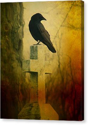 The Crow's Cross Canvas Print by Gothicrow Images