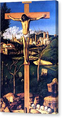 Canvas Print featuring the painting The Crucifixion 1503 Giovanni Bellini by Karon Melillo DeVega