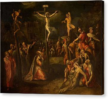 The Crucifixion, 1550?-1700 Canvas Print by Flemish School