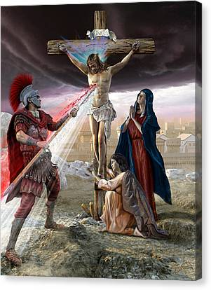 The Crucifixion Canvas Print by Kurt Miller