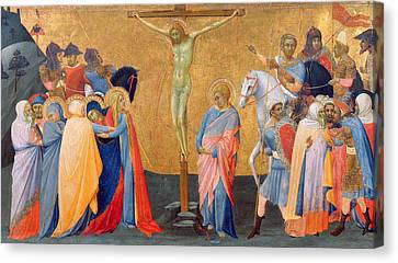 The Crucifixion Canvas Print by Master of the Madonna of San Pietro of Ovila