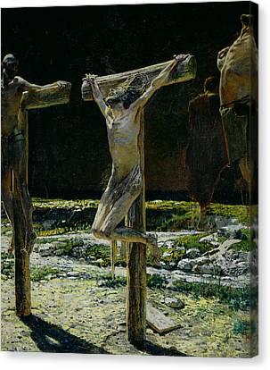 The Crucifixion Canvas Print by Nikolai Nikolaevich Gay