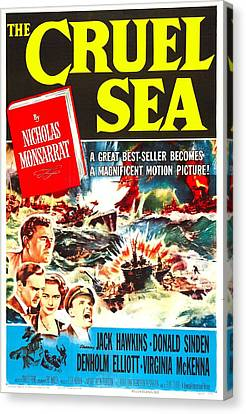 The Cruel Sea, Us Poster, Jack Hawkins Canvas Print by Everett