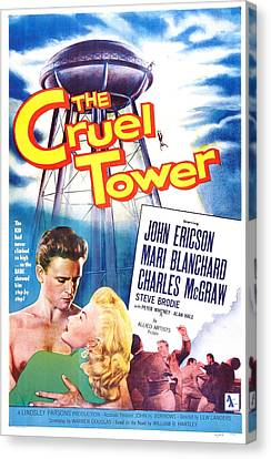 The Cruel Tower, Us Poster, From Left Canvas Print by Everett