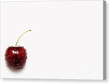 The Crying Cherry Canvas Print by Andee Design