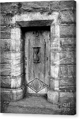 The Crypt Door Canvas Print by Avis  Noelle