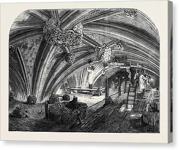 The Crypt Under Old St. Stephens Chapel Westminster Now Canvas Print by English School