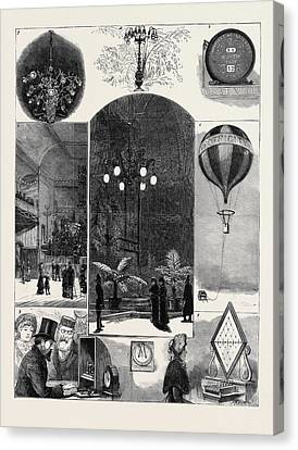 The Crystal Palace Electrical Exhibition 1 Canvas Print by English School