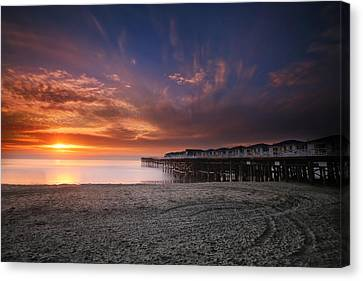 The Crystal Pier Canvas Print by Larry Marshall