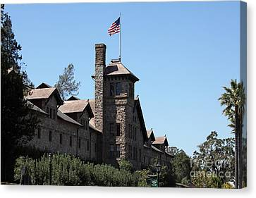 The Culinary Institute Of America Greystone St Helena Napa California 5d29498 Canvas Print by Wingsdomain Art and Photography