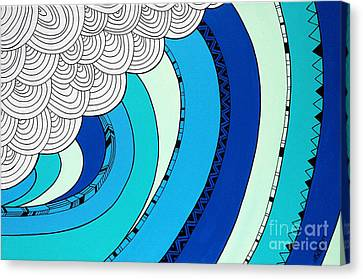 The Curl Canvas Print by Susan Claire