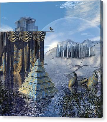 The Curtain Falls Canvas Print by Diuno Ashlee