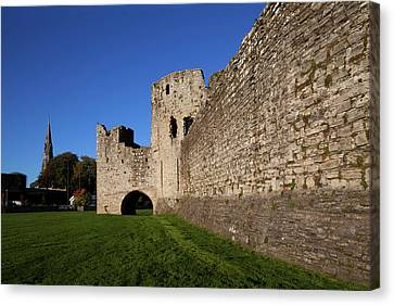 Curtain Wall Canvas Print - The Curtain Walls Of Trim Castle by Panoramic Images
