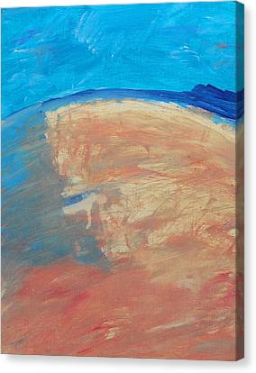 The Curve Of The Beach Canvas Print by Lenore Senior