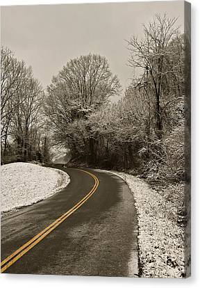 The Curved Road Canvas Print