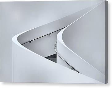 The Curved Stairs Canvas Print by Jeroen Van De