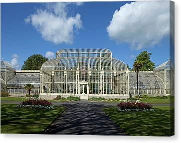 The Curvilinear Glasshouses, National Canvas Print by Panoramic Images