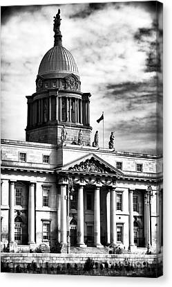The Custom House Canvas Print by John Rizzuto