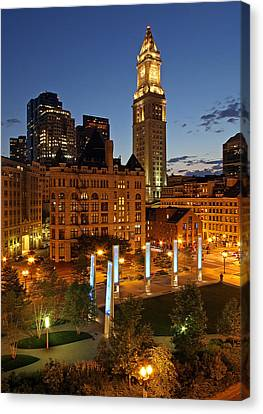 Custom House Tower Canvas Print - The Custom House Of Boston by Juergen Roth