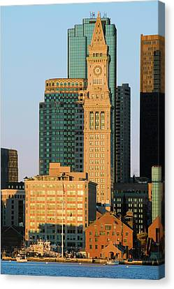 Custom House Tower Canvas Print - The Customs House Clock Tower by Panoramic Images