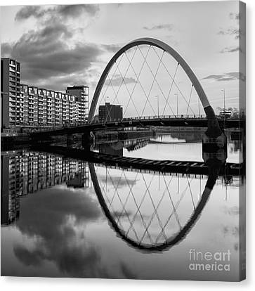City Of Bridges Canvas Print - The Cyde Arc Squinty Bridge by John Farnan