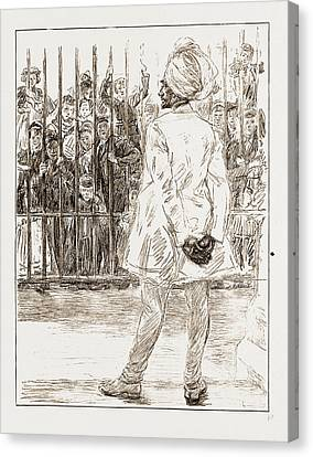 Sikh Art Canvas Print - The Cynosure Of All Eyes A Scene At Chelsea Barracks by Litz Collection