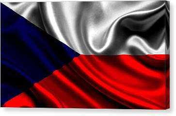 The Czech Republic Flag Canvas Print by VRL Art