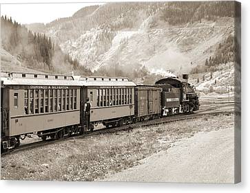 The D And S Into The Mountains Canvas Print by Mike McGlothlen