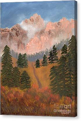 Canvas Print featuring the painting The Dakotas by J Cheyenne Howell