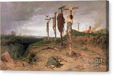 The Damned Field Execution Place In The Roman Empire Canvas Print by Fedor Andreevich Bronnikov