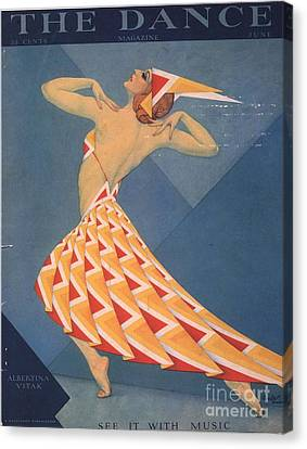 The Dance 1920s Usa Art Deco Magazines Canvas Print by The Advertising Archives