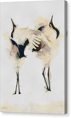 Canvas Print featuring the painting The Dance by Georgi Dimitrov