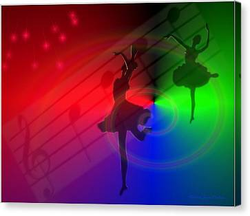 The Dance Canvas Print by Joyce Dickens