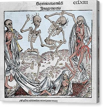 The Dance Of Death (1493 Canvas Print by Prisma Archivo