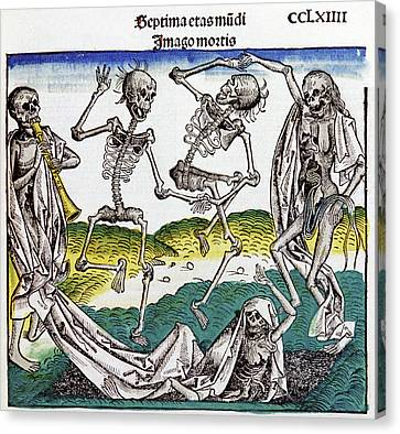 The Dance Of Death Canvas Print by Cci Archives