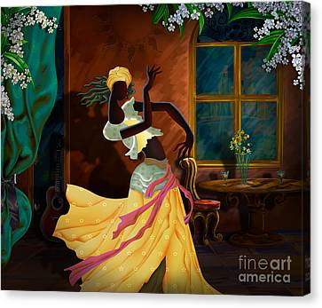 The Dancer Act 1 Canvas Print by Bedros Awak