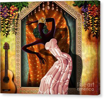 The Dancer V1 Canvas Print by Bedros Awak