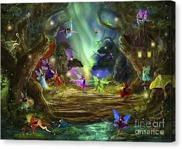 Imagination Canvas Print - The Dancing Auroras by Aimee Stewart