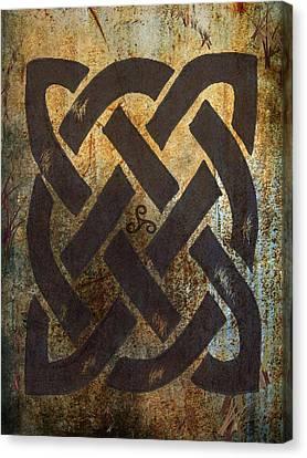 Celtic Art Canvas Print - The Dara Celtic Symbol by Kandy Hurley