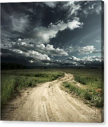 The Dark Clouds Canvas Print by Boon Mee
