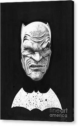 The Dark Knight Canvas Print by Wave