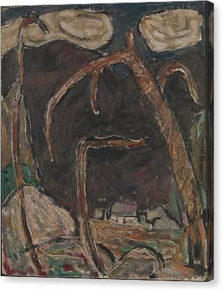 The Dark Mountain, No. 1 Canvas Print by Marsden Hartley