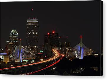 The Dark Side Of Boston Canvas Print by Juergen Roth
