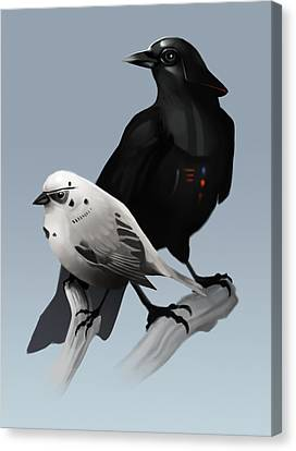 The Dark Side Of The Flock Canvas Print by Michael Myers