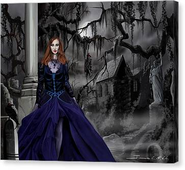 The Darkness Of The South Canvas Print